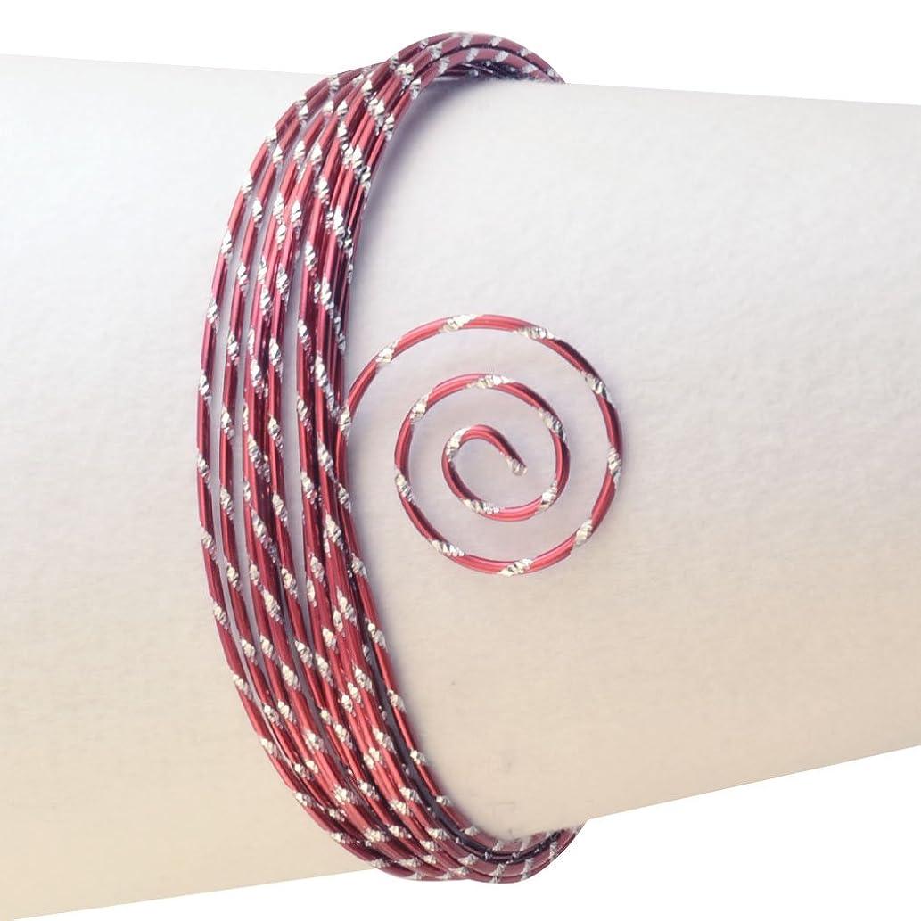 Vaessen Creative 2 mm x 5 m Aluminium Wire Diamond Cut, Red