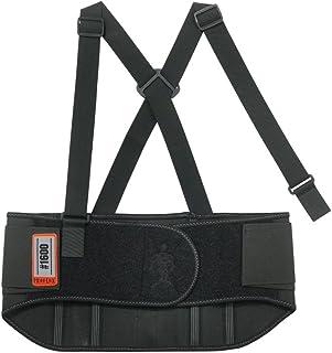 Ergodyne ProFlex 1600 Ceinture de soutien arrière élastique standard, Large, Noir