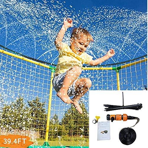 AILVOA 12m Trampolin Sprinkler,Wassersprinkler Schlauch Outdoor Wasserkühlungsrohr Spielzeug für Kinder Sommerspaß (orange)