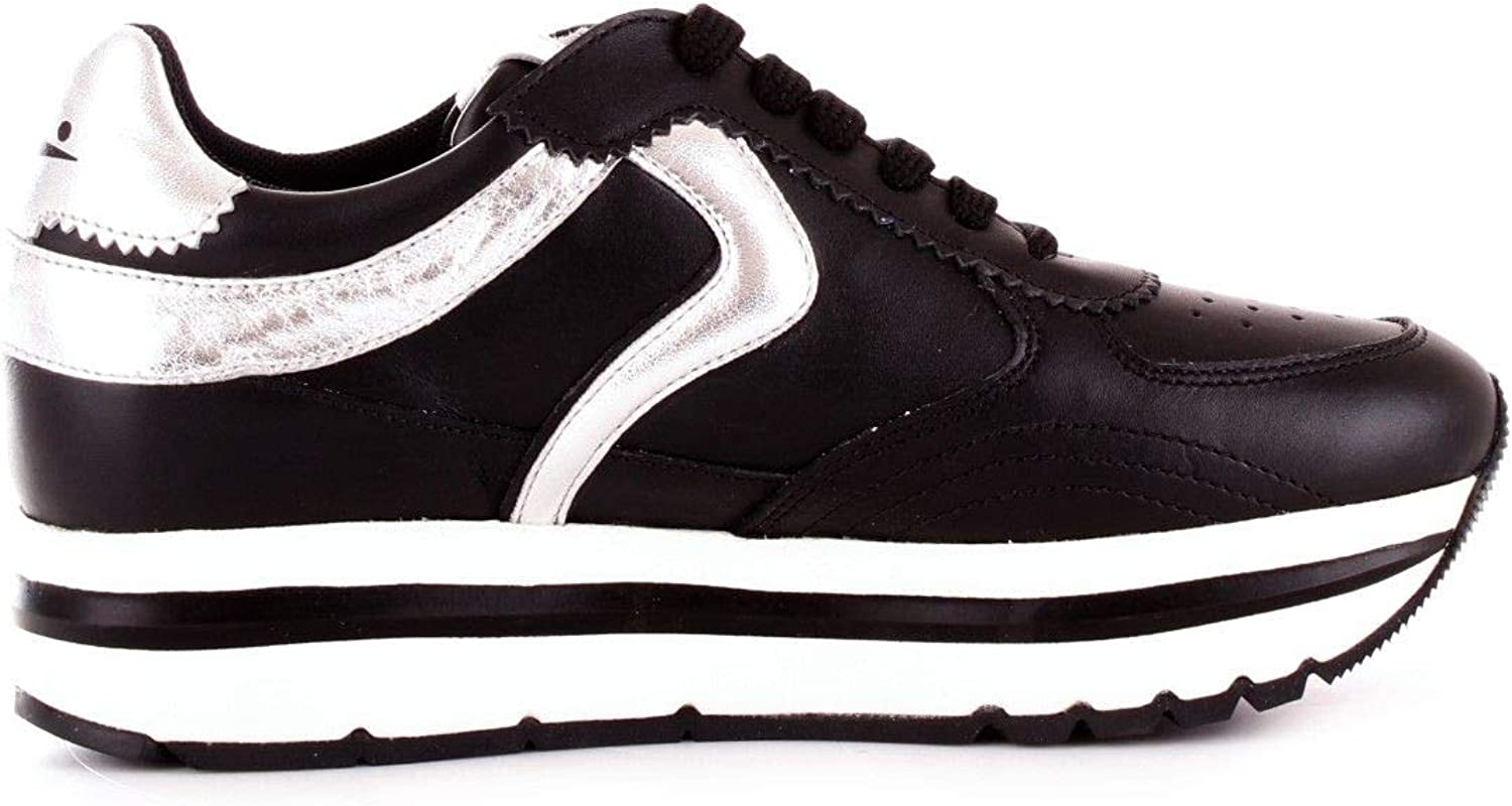 VOILE whiteHE Women's 201360902black Black Leather Sneakers