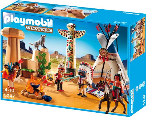 Playmobil 5247 - Indianercamp mit Totempfahl