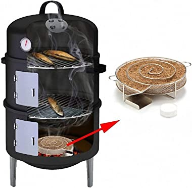 Will Outdoor Cold Smoke Generator Sawdust Powder Smoker Hot and Cold Smoking BBQ Saw Charcoal Gas Grill Hot and Cold Smoking