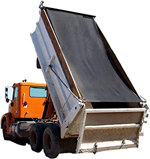 Dump Truck Mesh Tarp 8'X16' - Black Tentproinc Heavy Duty Cover with 6'' Pocket Reinforced Double Needle Stitch Webbing Ripping Tearing Stop, No Rust Thicker Brass Grommets –3 Years Limited Warranty