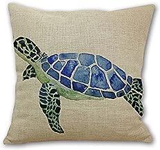Animal Sea Turtle Wall Cotton Linen Decorative Pillowcase Throw Pillow Cushion Cover Square 18 * 18 Home Life