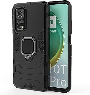شاومى مى 10 تى / مى 10 تى برو (Xiaomi Mi10T / Mi 10T Pro 5G) جراب ايرون مان مزود بدبله معدنيه- اسود