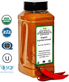 HQOExpress | Organic Paprika | 18 oz. Chef Jar