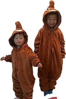 Guzesion Unisex Children's Emoji Costume Warm Onesie Jumpsuit Cosplay Pajamas