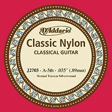 La cuerda de repuesto perfecta para la quinta cuerda de tensión normal para guitarra clásica del juego J27 de D'Addario de nivel principiante. Tensión normal. Un equilibrio excelente entre valor y confiabilidad. Fabricado en EE. UU. para ofrecer la m...
