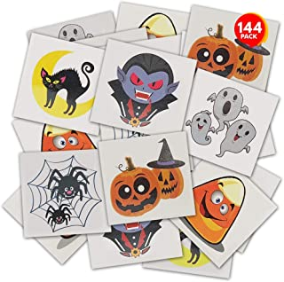 ArtCreativity Halloween Temporary Tattoos for Kids - Pack of 144 - 2 Inch Non-Toxic Tats Stickers for Boys and Girls, Best...
