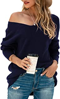 Women's Batwing Sleeve Dolman Ribbed Knit Sweaters...