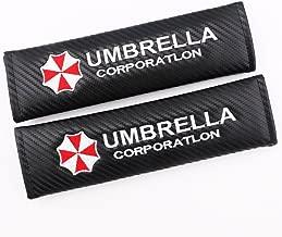 Altopcar Seat Belt Cover, Umbrella Corporation Carbon Fiber Car Seat Belt Shoulders Pad Cushion Truck Cover 2pcs
