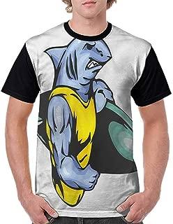 Fashion T-Shirt,Cartoon Shark Types Wild Fashion Personality Customization