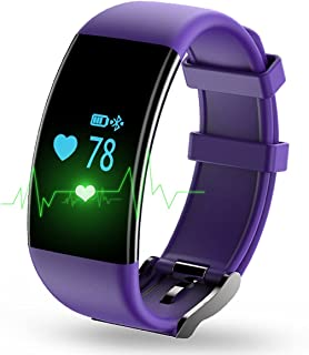 KASSICA Fitness Tracker Smart Wristband Bluetooth Smart Bracelet Activity Wristband with Heart Rate Monitor Step Walking Distance Calorie Counter for iOS Android Samsung iPhone Smartphone