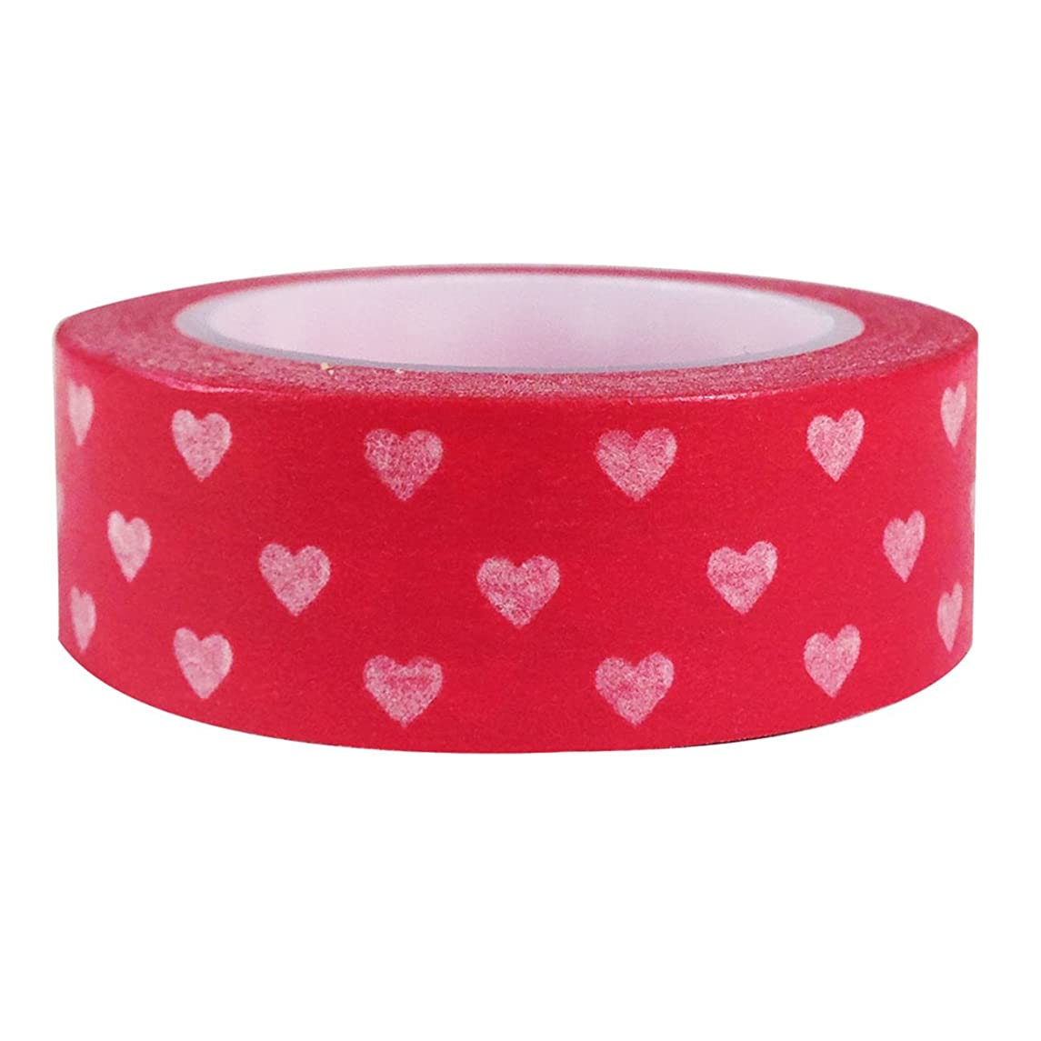 Wrapables Hearts and Sweets Washi Masking Tape, White Hearts