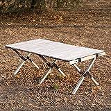 ZHONGLU CRAFTS Folding Table Camping Table...