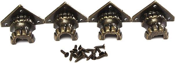4 stuks poten poten poten hoekbeschermers voor houten kisten, kisten, sieradenkisten, 35 x 25 mm