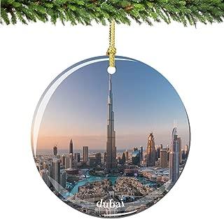 City-Souvenirs Dubai Christmas Ornament Porcelain Double Sided