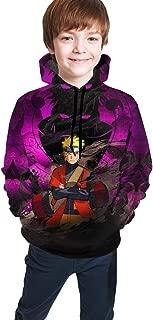 Naruto Kids Hoodies Children Pullover Hooded Sweatshirts with Kangaroo Pocket