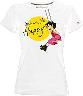 Blasfemus T-Shirt Donna - Heidi - Because I'm Happy Cartoni Animati Anni 80