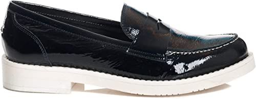 MOHommesTI chaussures Mocassino femmes 6808 Naplak bleu