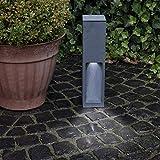 Wegeleuchte Aluminium grau 45 cm