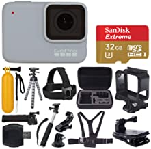 $249 Get GoPro Hero 7 (White) Waterproof Digital Action Camera + Sandisk Extreme 32GB MicroSD Memory Card + Medium Case + Flexible Tripod + Head & Chest Strap + Monopod + Floating Handle + Wrist Strap + Clamp