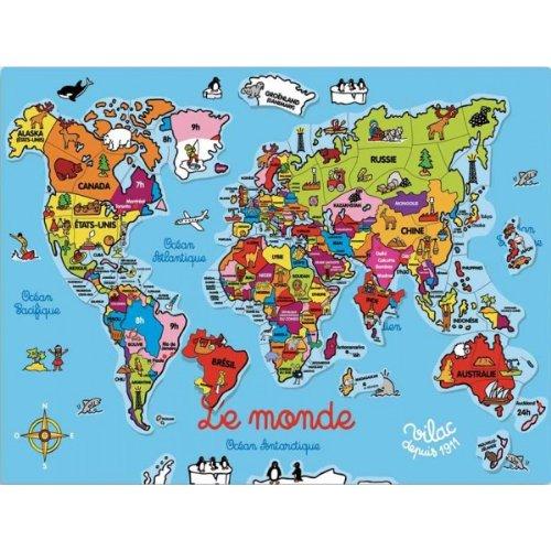 VILACマグネットパズル世界地図