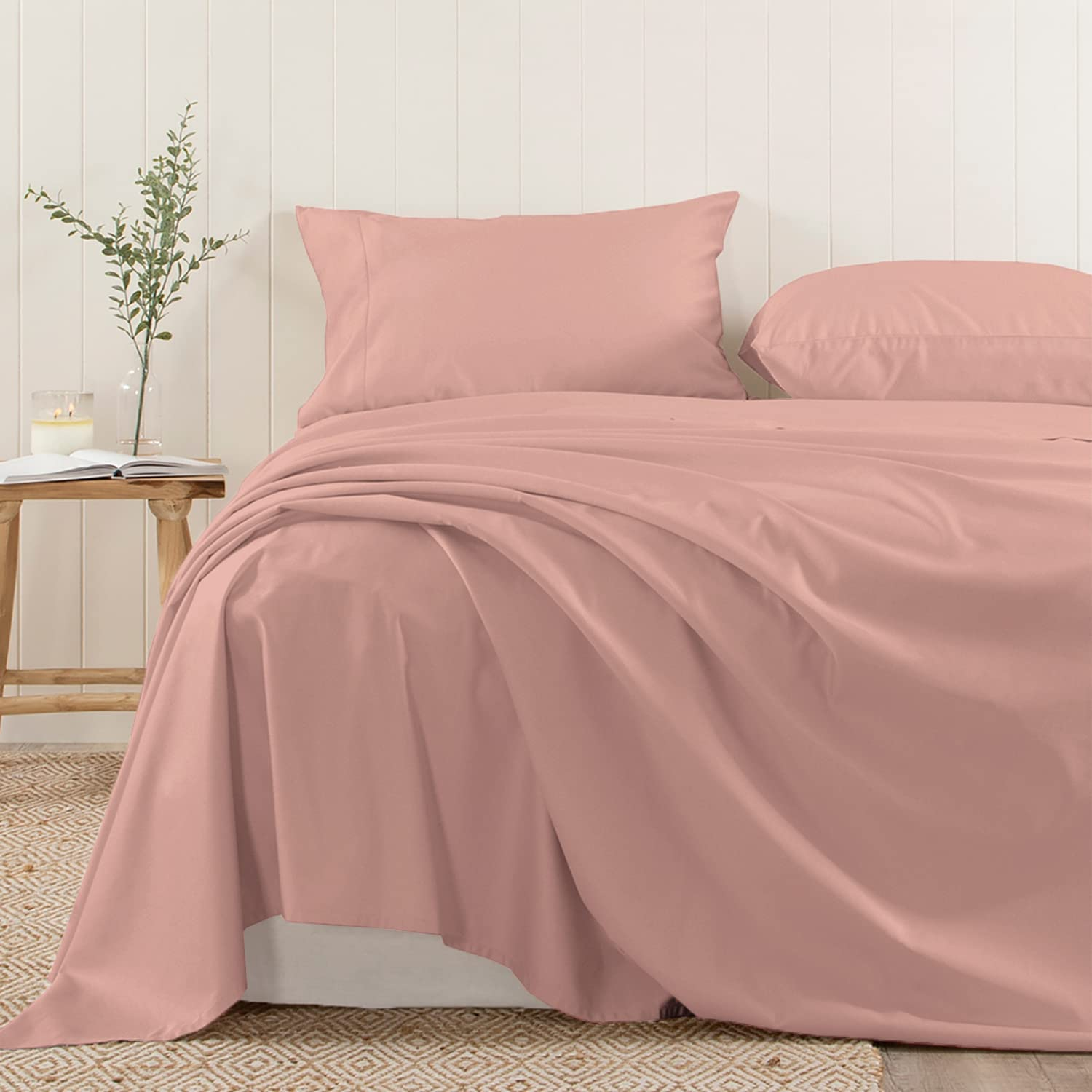 Pizuna Soft 400 Thread Count Ranking Challenge the lowest price of Japan TOP10 Cotton King Flat Rose 1 Sheets 1pc