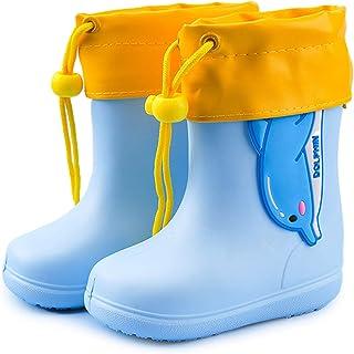 Stivali da Pioggia per Bambini Ragazze Ragazzi Stivali da Gomma Impermeabile Antiscivolo Stivali Pioggia Bambino