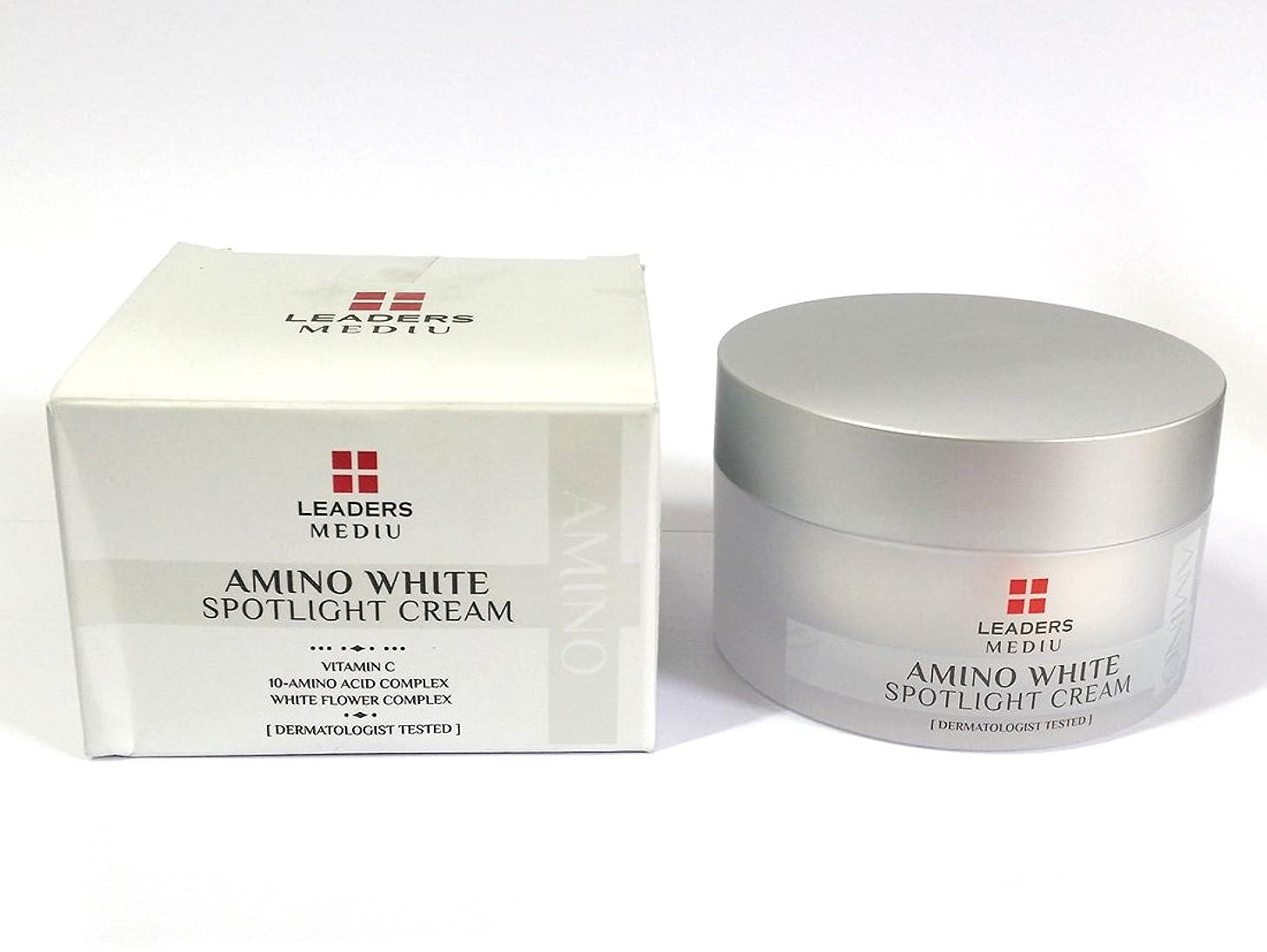 合併症一緒に誘う[Leaders] アミノホワイトスポットライト50ml / Amino White Spotlight Cream 50ml?/ ホワイトニング、アンチリンクル、モイスチャライジング / Whitening, Anti-Wrinkle, Moisturizing / 韓国化粧品 / Korean Cosmetics [並行輸入品]