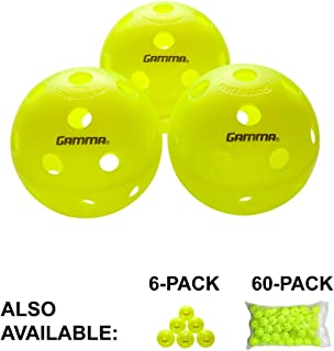 Gamma Sports Photon Indoor and Outdoor Pickleballs, High-Vis Optic Green USAPA Approved Pickleball Balls, (3, 6, & 60 Packs Available)