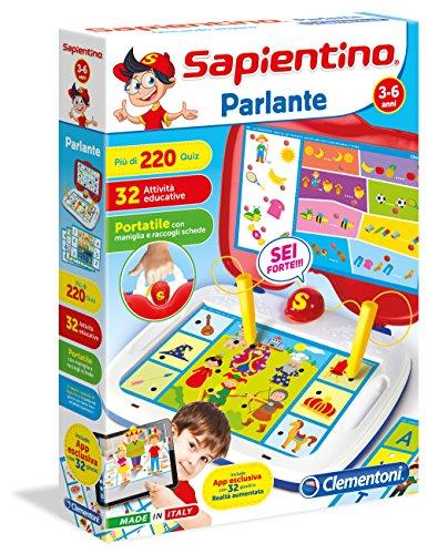 Clementoni Parlante Niños Juego de mesa de aprendizaje - Juego de tablero (Juego de mesa de aprendizaje, Niños, 3 año(s), 6 año(s), Interior)