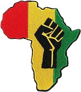Africa Black Power Fist Rasta Rastafari Embroidered Iron on Patch Black Lives Matter