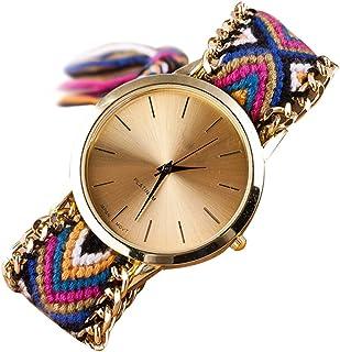 SODIAL Women's Braided Chain Wrist Watch (Model 12)