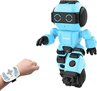 Haite Growing Up Robot, Interactive RC Robot Toy for Kids with Chat Record, Dialogue Conversation, Sing&Dance, Story,Eat Fruit, Steak, Cola, Gift for 3+