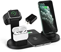 HZM Wireless Charger, 3 in 1 Fast Charging Station Compatible for iWatch AirPods Pro, iPhone 11/11Pro/11Pro Max/XR/Xs/Xs Max/X/8/8Plus Samsung Galaxy