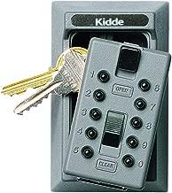Kidde AccessPoint 001015 KeySafe Original Push Button Combination Permanent Key Lock Box, 5-Key, Titanium Gray