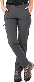 Women's Quick Dry Hiking Pants Lightweight Stretch Cargo Tactical Pants, 5 Zip Pockets, Water Resistant