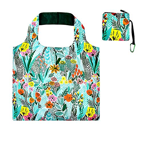 Foldable Reusable Grocery Bags for Shopping with Top Zipper Recycle Folding Tote for Travel Beach Shopper Women Reusable Shopping Bags Washable Waterproof Lightweight Sturdy Foldable Fashion Bag