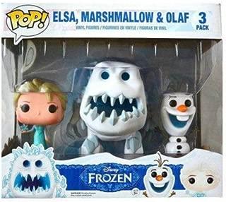 Funko Disney Frozen POP! Movies Elsa, Marshmallow & Olaf Vinyl Figures #82