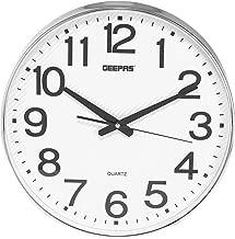 ساعة حائط بلاستيك من جيباس بدون منبه ، انالوج - بطارية AAA