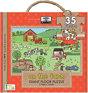 Innovative Kids Green Starts Giant Floor Puzzles: On The Farm (35Pc)