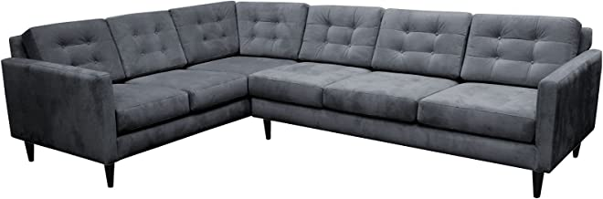 product image for Maxwell Large L Sectional LAF (Dawson Gunmetal)