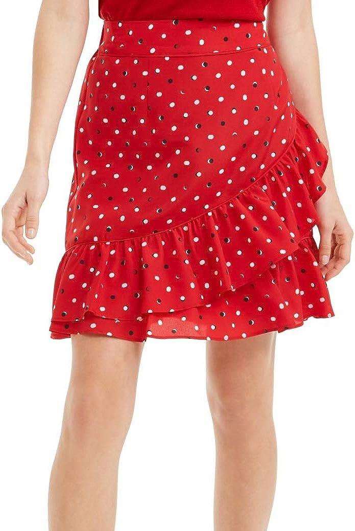 Maison Jules Womens Inexpensive Ruffled Skirt Printed Ranking TOP17