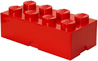 Room Copenhagen 8 Lego Brick Box, Bright Red
