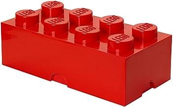 LEGO Ladrillo de Almacenamiento Grande, 8, Rojo