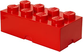 LEGO 8-Brick Storage Box, Bright Red