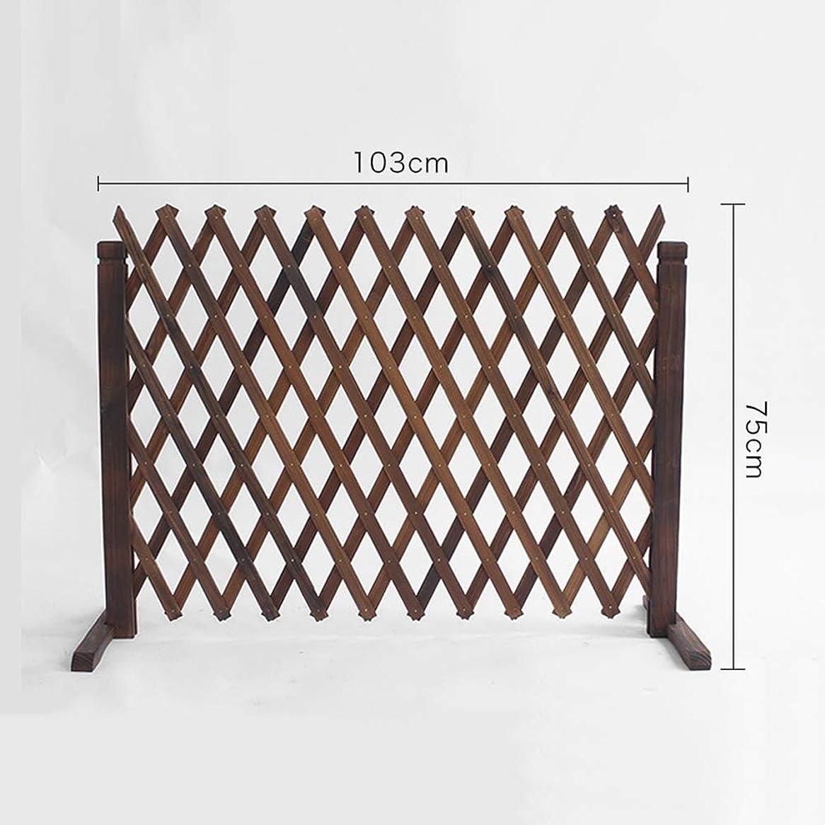 ZENGAI 木製 ボーダーフェンス無垢材拡張フェンス モバイルおよび可動フェンス 庭師とペットの所有者 (サイズ:103x75cm) (Size : 2pcs-103x75cm)