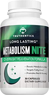 Metabolism Night Time Energy & Healthy Metabolism Support Formula - PM Amino Acid Supplement - Promotes Muscle Recovery & Restful Sleep - All Natural Stimulant Free Ingredients - Women & Men
