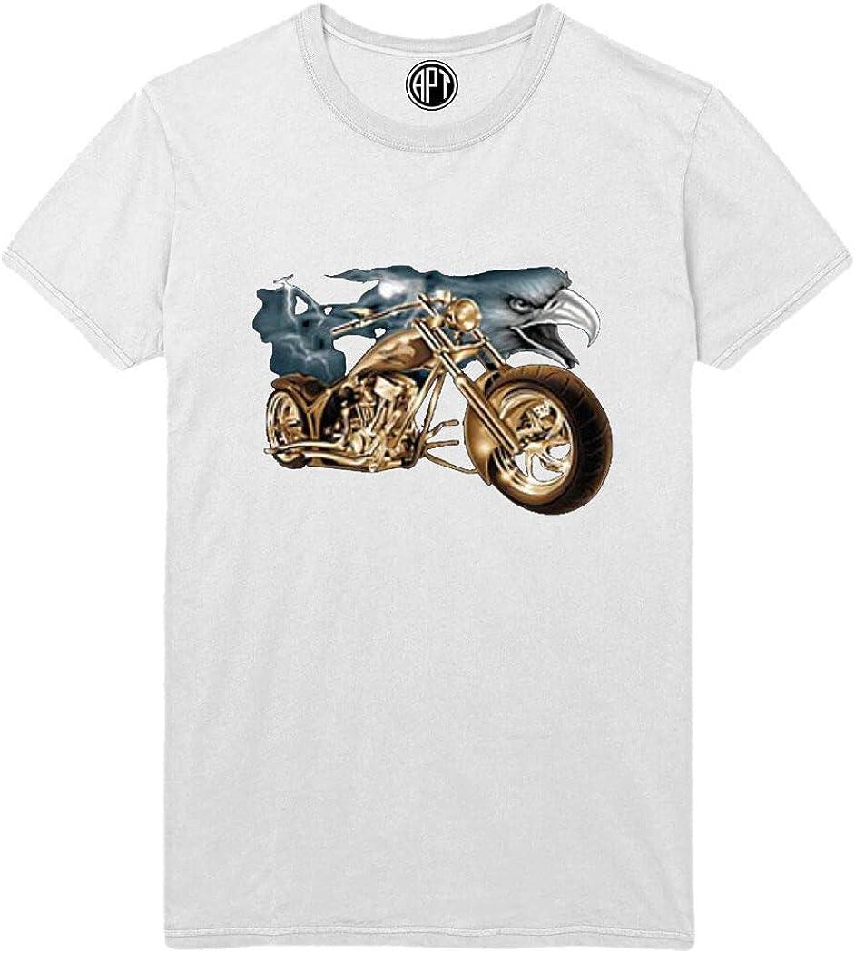 Eagle and Motorcycle Printed T-Shirt